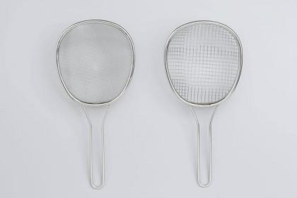 日本製 18-8不鏽鋼淺型漏勺