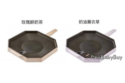 韓國製 Dr.Hows 奶茶色系不沾煎烤盤 / 兩色