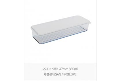「套組 SET」韓國 SILICOOK 大型食材 4件組 850ml&1900ml 附2隔版