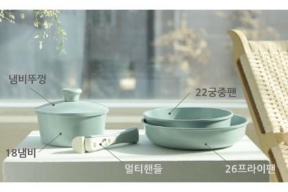韓國【LUKENLUCY】馬卡龍色多柄廚具五件套組
