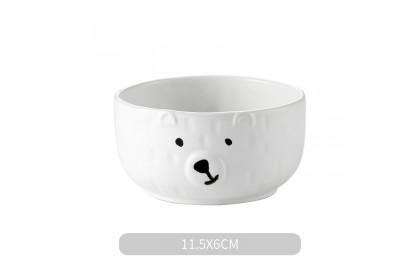 日式白熊陶瓷餐具